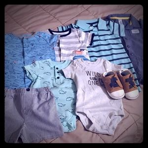 NWT and Like New Lot of Infant Clothes